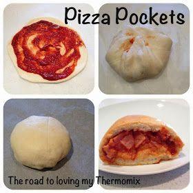The road to loving my Thermomix: Pizza Pockets