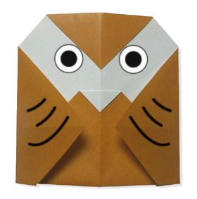 Easy Origami For Kids.: Owl
