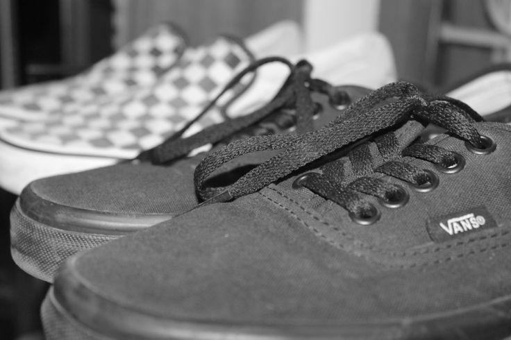 Shoes for life. #Vans #Classic Era #Shoes #Monochrome