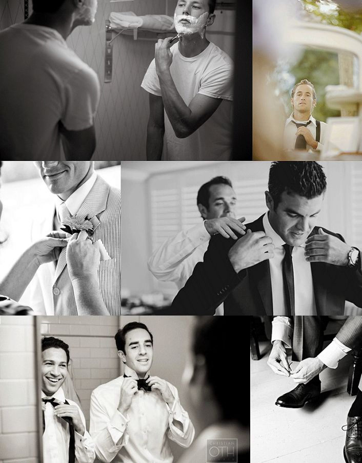 Wedding Photo Musts: The Bride and Groom Getting Ready