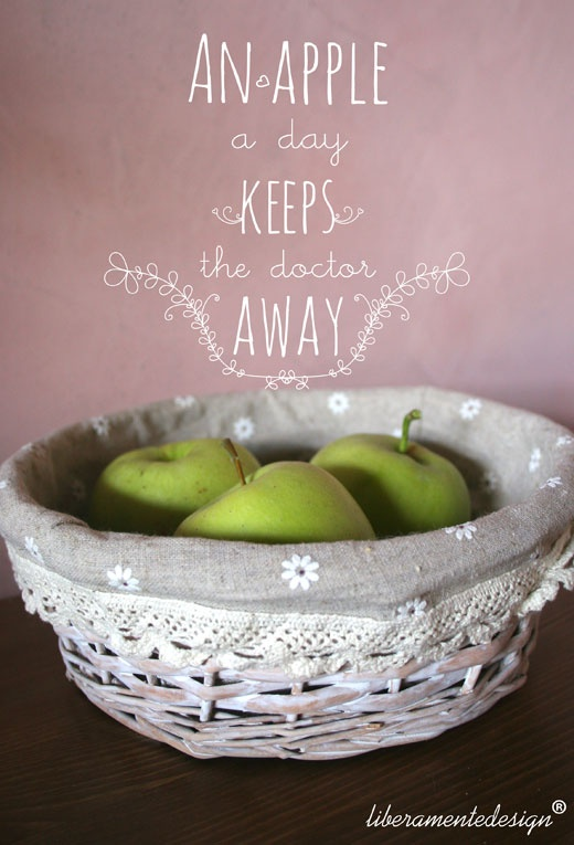 An apple a day keeps the doctor away! Photo by: Liberamente all design