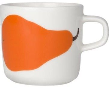 Marimekko Paaryna White and Orange Cup contemporary cups and glassware