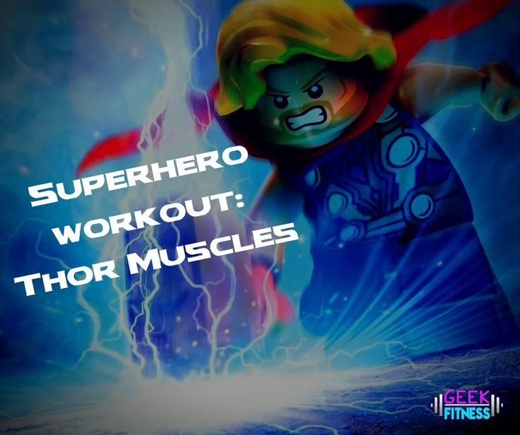 This superhero workout will get you Thor muscles in no time. Plus, you may be worthy to heft Mjolnir if you make it through this upper body circuit fast enough!