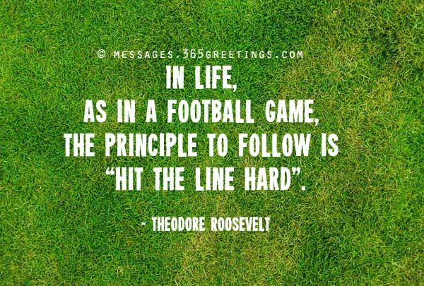 In life, as in a football game the principle to follow is hit the line hard - Teddy Roosevelt #FLVS #inspiration