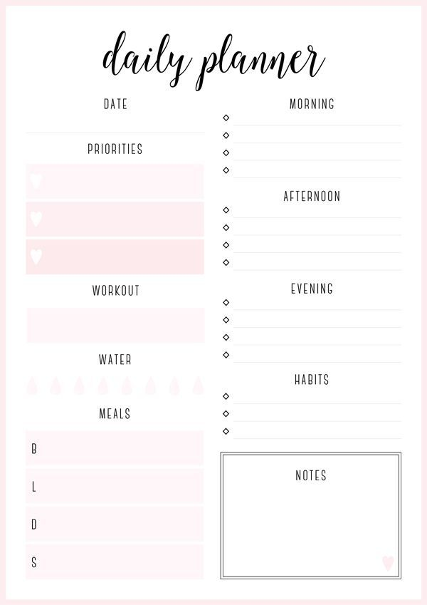 The 25+ best Daily planners ideas on Pinterest | Daily journal ...