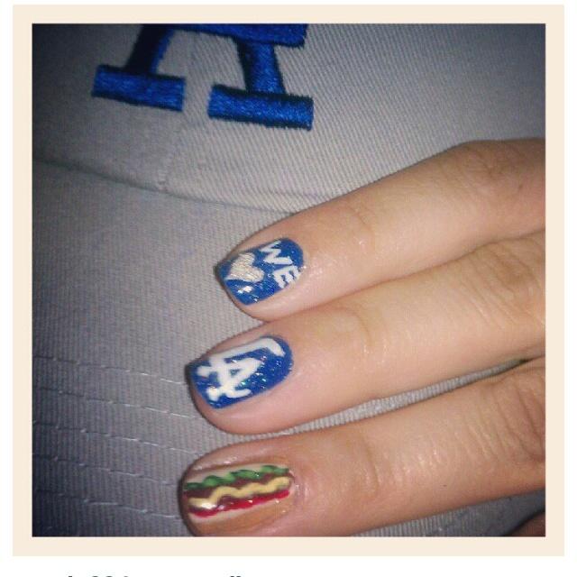 Best Nail Art Salons In Los Angeles: 19 Best Dodger Team Spirit Images On Pinterest