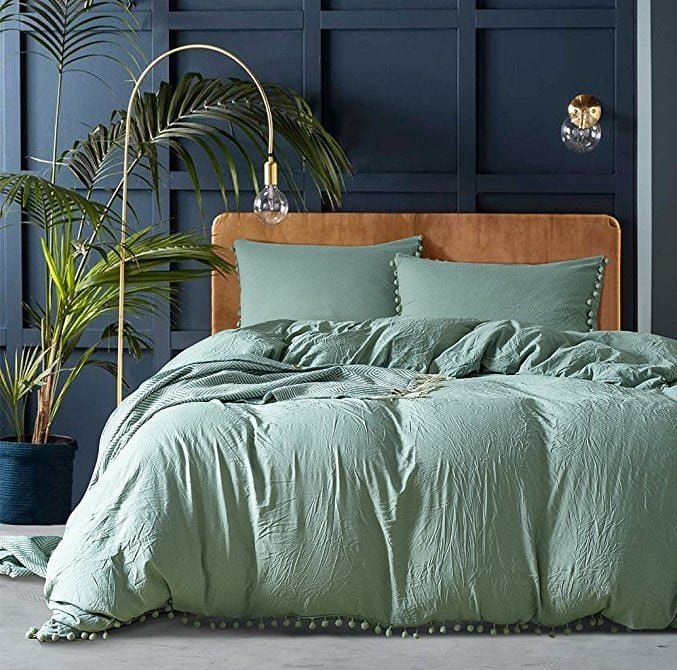 Best Rated Duvet Covers According To Reviews Top5 Green Duvet Covers Green Bedding Green Duvet