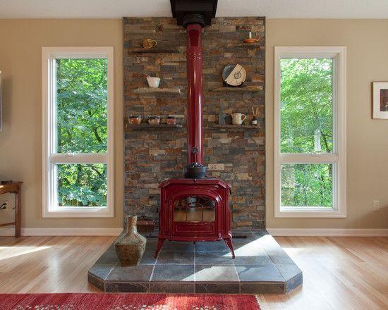 Wood Burning Stove Mantels Design Pictures Remodel