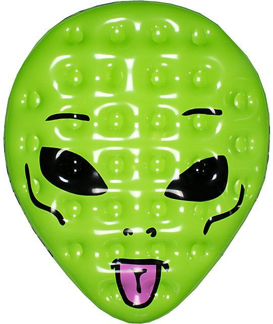 Kick back in the pool on a stylish RipNDip alien face pool float that measures 6 feet tall for maximum lounge space.