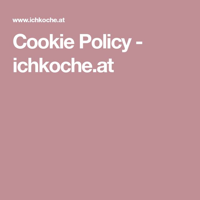 Cookie Policy - ichkoche.at