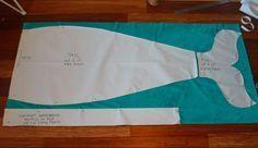 Learn to sew a Mermaid Tail Blanket. Free printable pattern plus video tutorial.