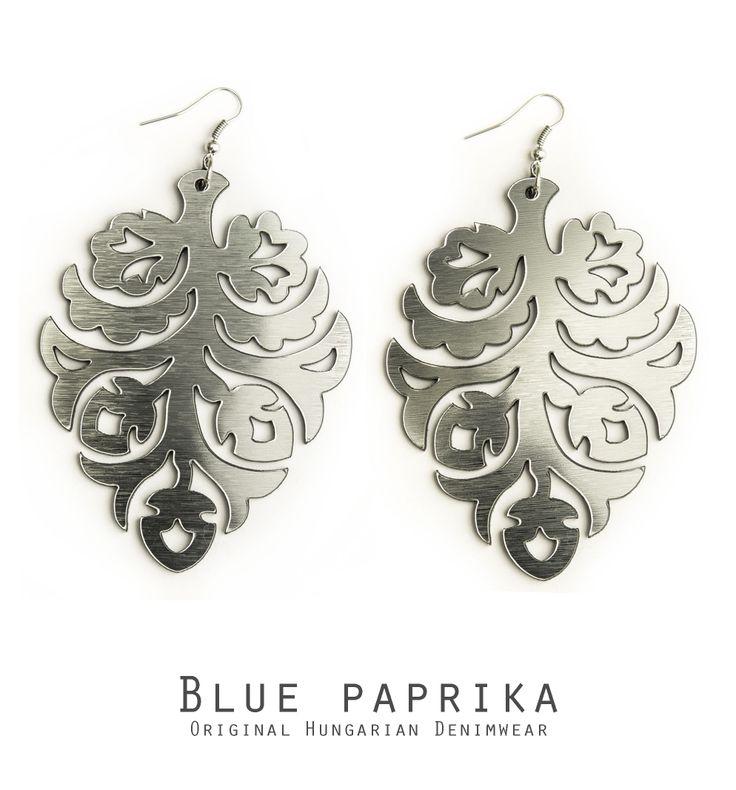 Ezüst színű álombokor fülönfüggő - Silver life-tree earrings