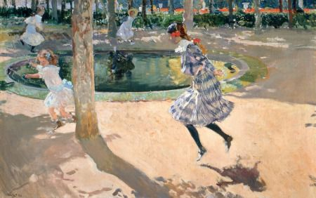 """""""Saltando la Comba"""" La obra Saltando la comba de Joaquín Sorolla fue pintada en el año 1907."""