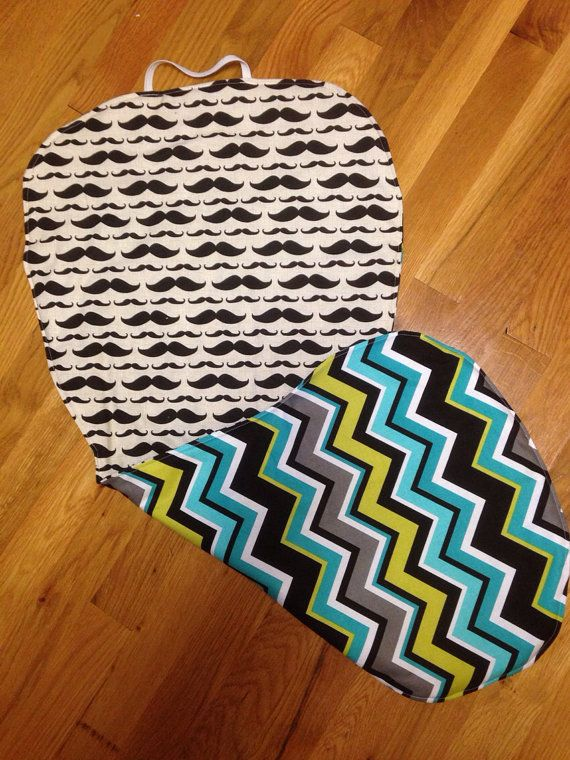Stroller Liner for Bugaboo Bee Mustache and Chevron on Etsy, $29.99