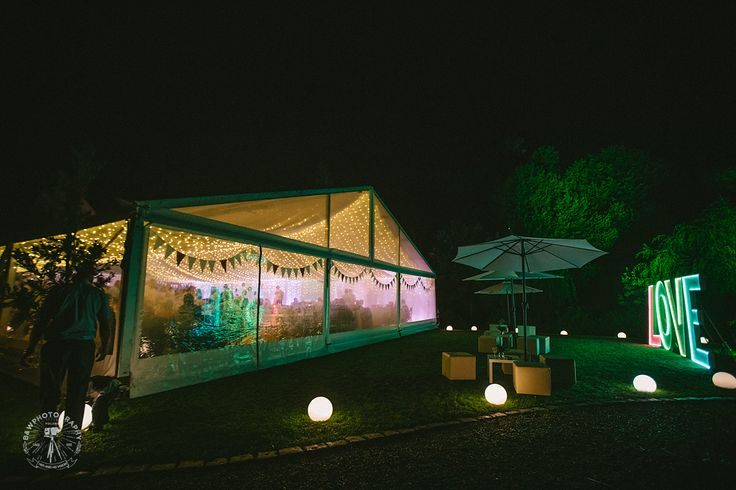 Namiot weselny w nocy || Wedding marquee during the night