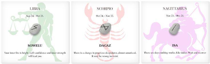 Daily Runescope 7/11/2017 #Horoscope #Zodiac #libra #scorpio #sagittarius