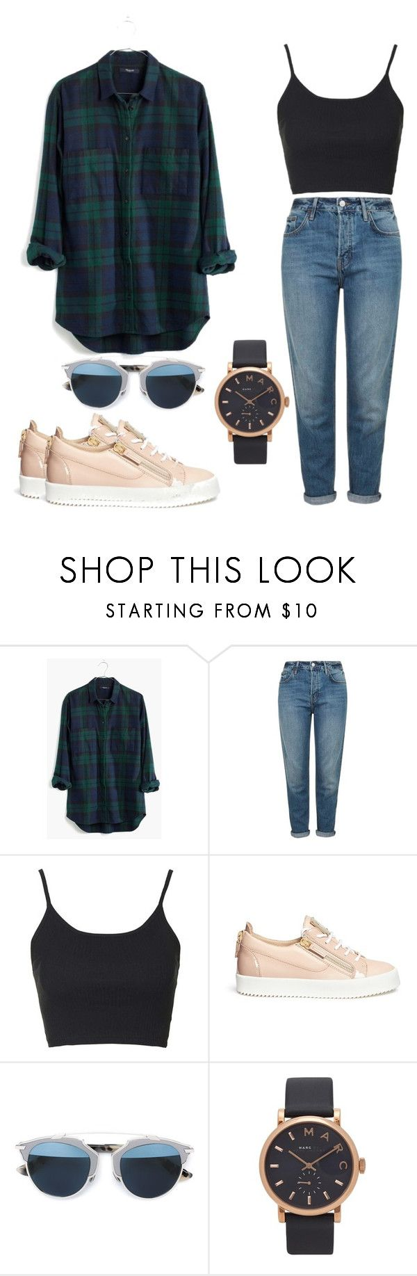 #OOTD35 by salbiylaazzara-fashion on Polyvore featuring Madewell, Topshop, Giuseppe Zanotti, Marc Jacobs and Christian Dior