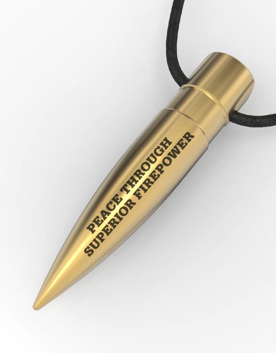 .50 BMG Bullet Pendant – «Peace through superior firepower»