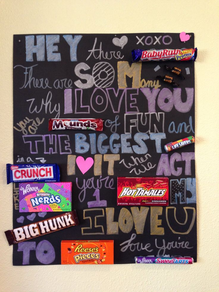 Candy Card For Boyfriends Birthday