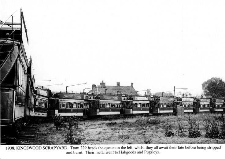 1938 The Kingswood Tram Scrapyard | by brizzle born and bred