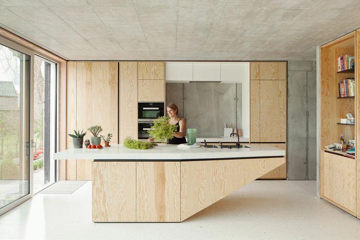 Belgischer Beton - i.s.m.architecten: Wohnhaus im Norden von Brüssel