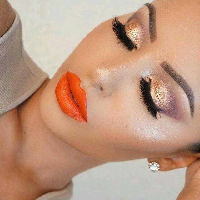 Labios  naranja