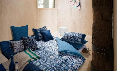 Fragment Blue Quilt Cover Set by Kas