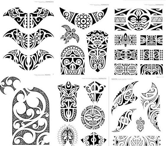Book of Polynesian Maori Tattoos - Italy Tattoo Book for Various Maori Style Designs - Painful Pleasures