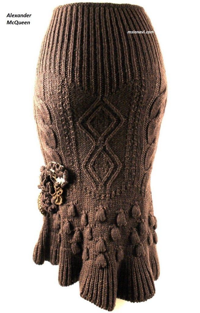 Вязаная юбка спицами от Alexander McQueen