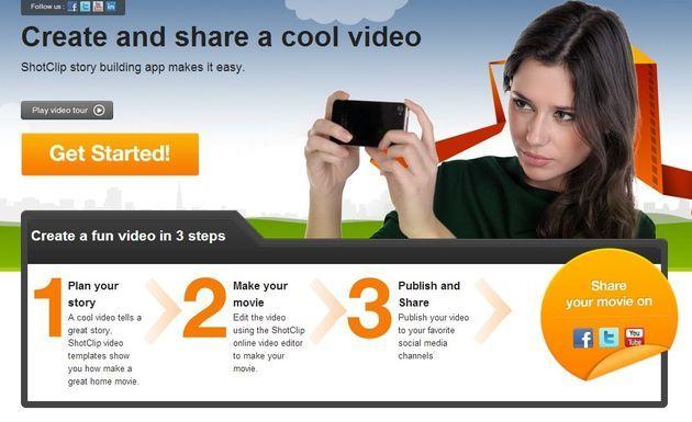 Shotclip, editor de vídeo online y gratuito muy fácil de utilizar     http://www.shotclip.com/