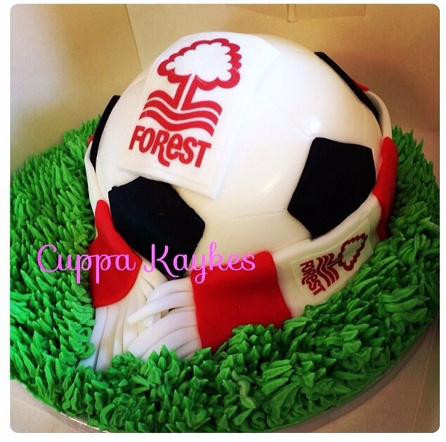 NFFC Nottingham Forest Football Club Football and scarf cake