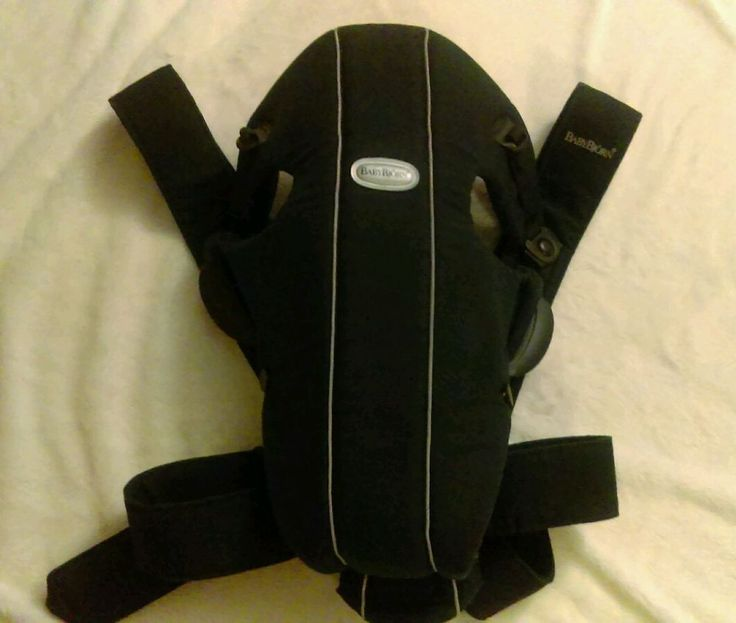 Baby Bjorn Baby Carrier Original Black Holds Infants & Toddlers 8 - 25 lbs | eBay!