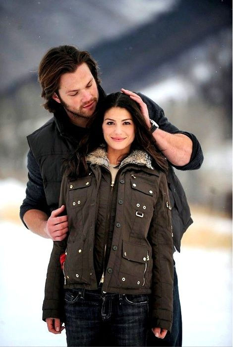 Jared and Genevieve. Oh I just love this picture <<<< she must be tall to only look THAT much shorter than him... DANG!