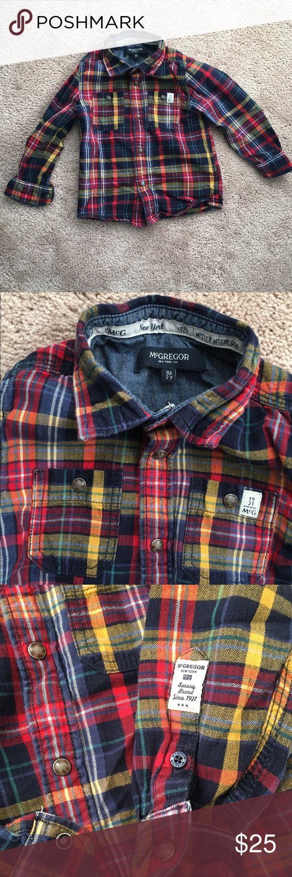 Mcgregor New York 1921 Toddler Button Up Mcgregor New York 1921 toddler Button up plaid Size 2Y In excellent condition! McGregor Shirts & Tops Button Down Shirts