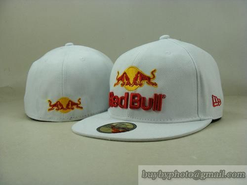 Red Bull 59Fifty Fitted Hats Racing Cap Redbull Hats White