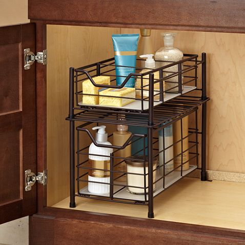 Best Photo Gallery Websites Buy Deluxe Medium Bathroom Cabinet Drawer in Matte Nickel from at Bed Bath u Beyond This handy durable cabinet steel drawer has a removable plastic base