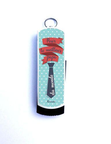 Un cadeau original que pour son Papa qui l'emportera partout avec lui ! Clé USB 8 Go Pour le meilleur Papa du monde !  Capacité: 8 Go