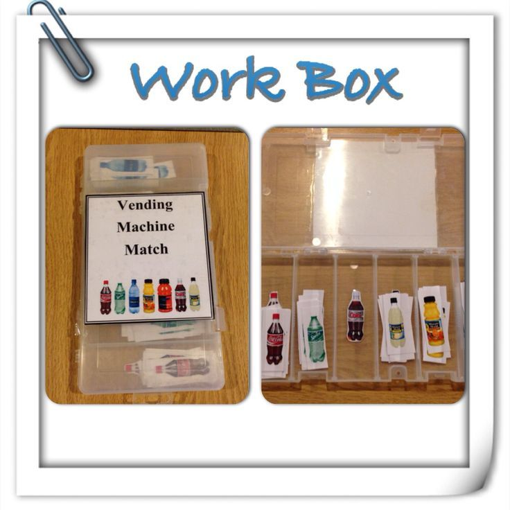 Vending machine work box for students in a vocational program.