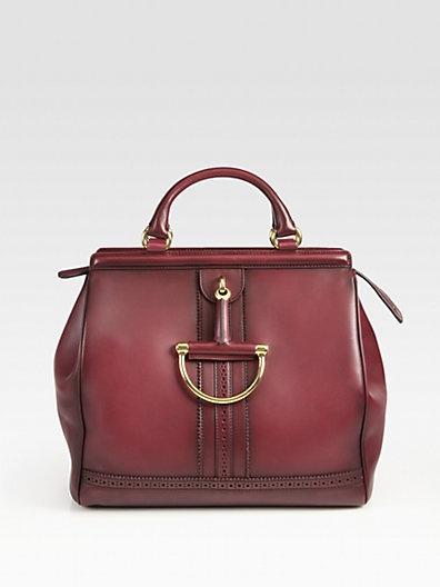 Gucci Duilio Horsebit Top Handle Bag $2,800.00