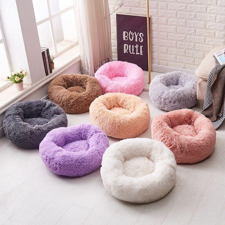 Warm Fleece Dog Bed Donut Cat Nest Deep Sleep Dog House