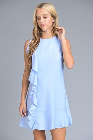 SUMMER SERENADE RUFFLE DRESS - BABY BLUE $37.00 https://www.bluechicboutique.com/products/summer-serenade-ruffle-dress-baby-blue