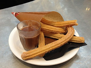Tapas Revolution - Westfield. Spanish tapas, Spanish style, great service and fantastic eat-in or take-away chocolate con churros....just look at this!