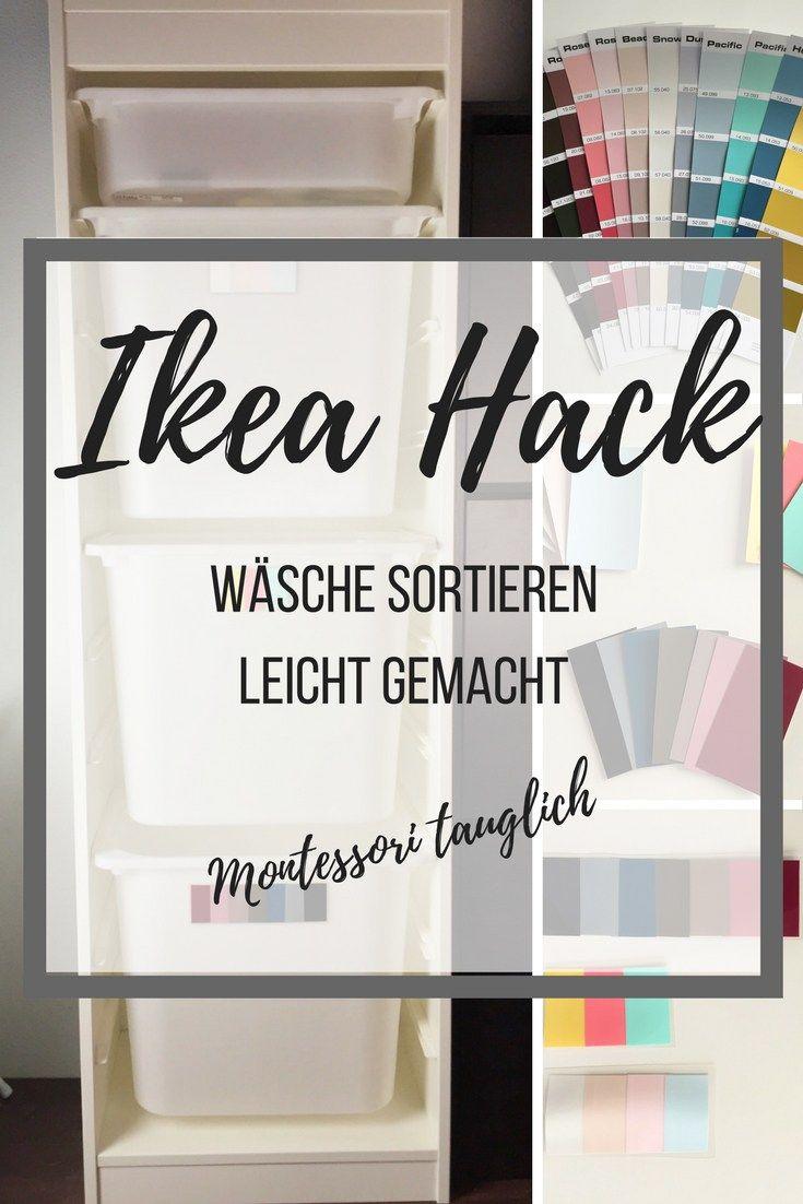 Wäsche sortieren mit diesem Ikea-Hack als Haushaltstipp. Im Familienleben fällt viel Wäsche an: so bezwingst du den Wäsche-Berg. Und dieser Tipp ist auch noch Montessori-tauglich