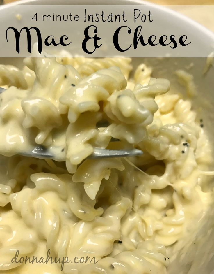 4 Minute Instant Pot Macaroni and Cheese - I can't believe how easy this is to make. It's super creamy and delicious. We love it. via @donnahup