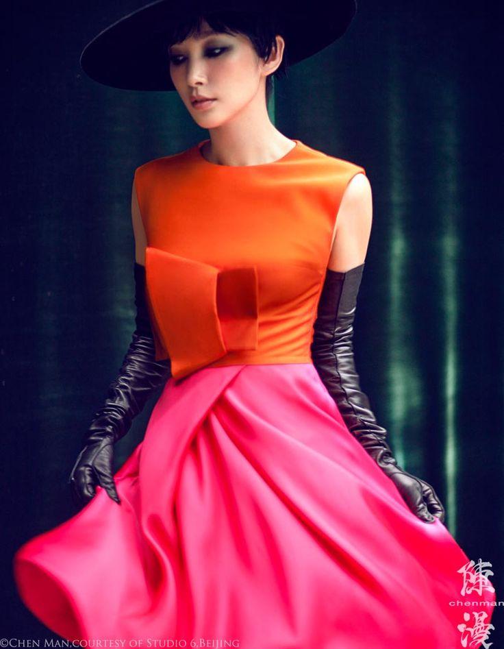 Fizzy orange cocktail dress
