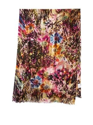 Saachi Women's Touch of Monet Digital Print Scarf, Multicolor