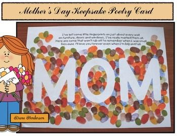 Capture a memory with this FREE Mother's Day keepsake card. Quick, easy and fun craftivity using a child's fingerprints.  I'm Diane from Teach With Me, wishing you a very happy Mother's Day!  Click here to see more Mothers Day activities.Come join the fun on Facebook for my exclusive FREEBIES & Monthly Giveaways.Check out my educational Pinterest boards.
