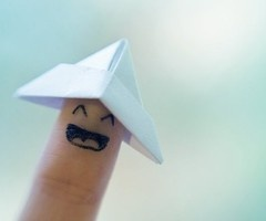 paper hat for your finger. this wud be funny for the boys to play with