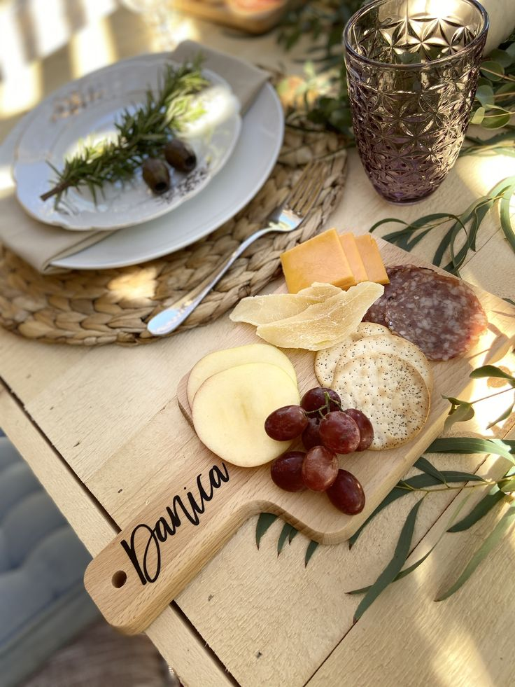 Create these adorable personalized cheese boards for your