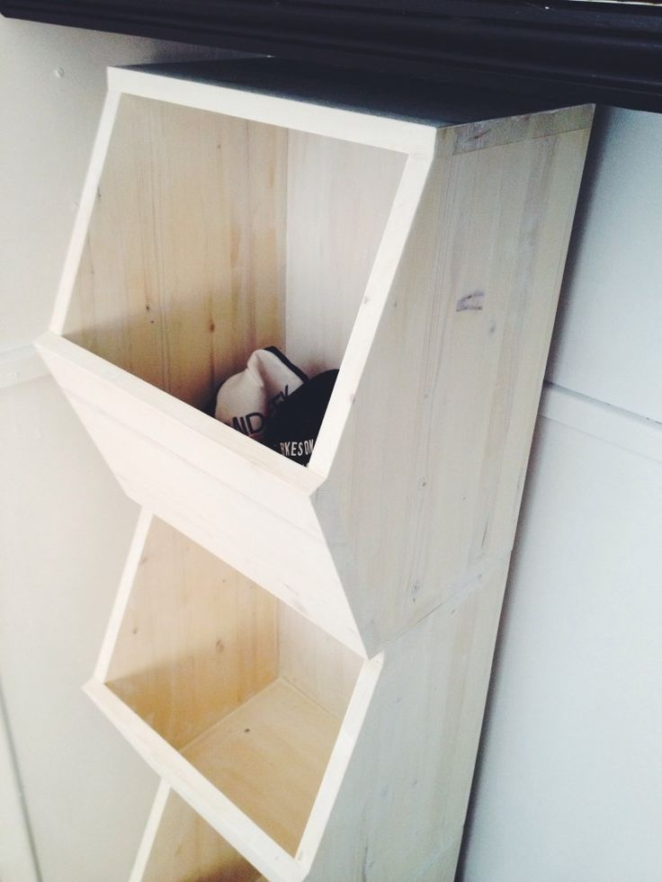Make your own honeycomb style storage bins - #diyorganization Cubby style organization for the whole family.